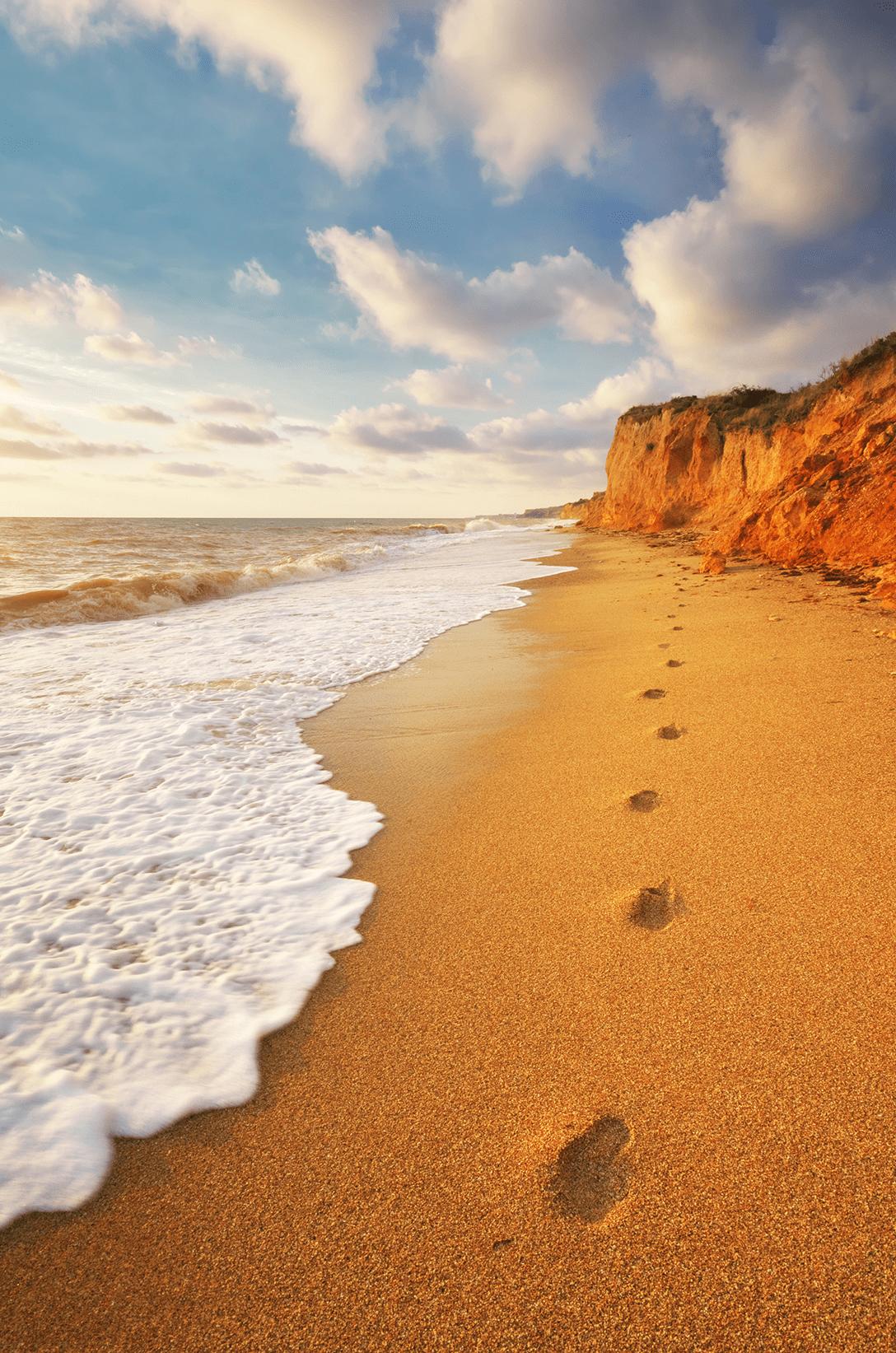 voetstappen zee